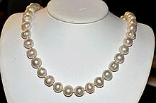 Strand of 12mm Baroque Pearls