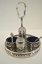 Silver Plate Spice Set