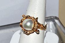 18kyg 10mm Pearl Ring