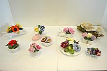 Ten Porcelain Figural Groups