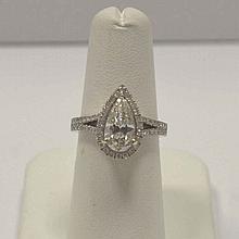 1.53ct Pear shaped diamond engagement ring, EGL