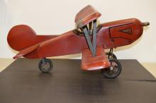 Wood handcrafted airplane