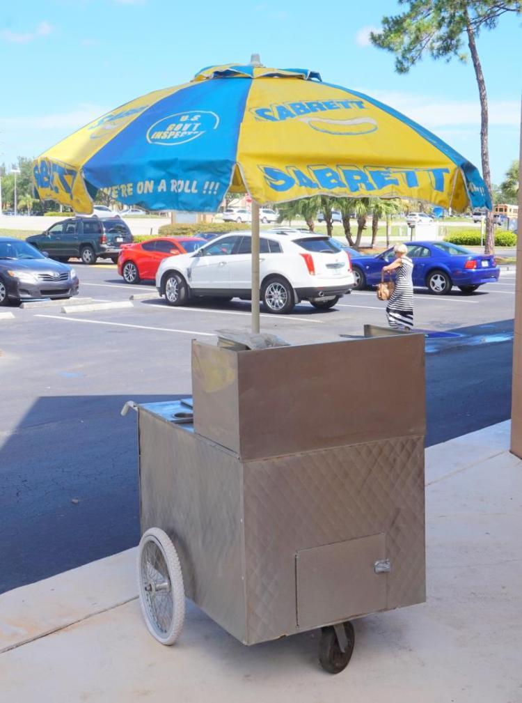Sabrett Hot Dog Push Cart
