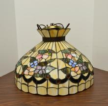 Tiffany style stained glass swag / hanging lamp