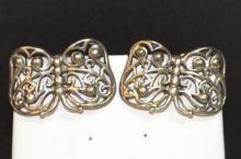 Sterling Kieselstein Cord Butterfly Earrings