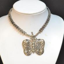 Sterling Kieselstein Cord Butterfly Necklace