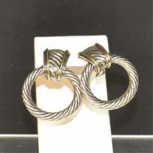 Sterling & 14k David Yurman Earrings
