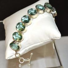 Sterling & Aquamarine Bracelet