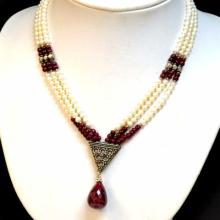 Pearl & Ruby Necklace