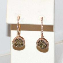 18kt rose gold Diamond Drop Earrings