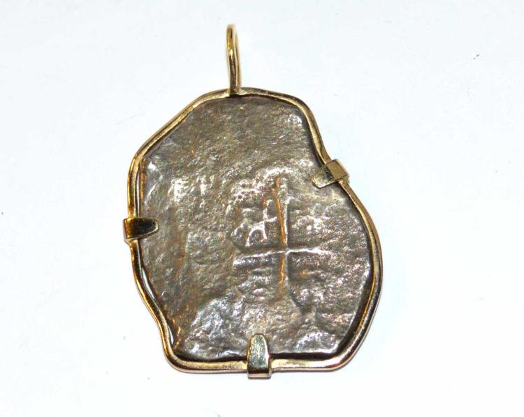 Shipwreck coin pendant in 10kyg by gulfcoast coin and for Gulf coast coin and jewelry