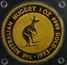 1993 Australia $100 Gold Nugget 1 oz. BU Coin