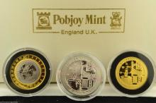 1999/2000 Greenwich Meridian Millennium 3 Coin Set