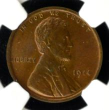 1914 Lincoln Cent NGC MS 64 BN