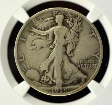 1919-S Walking Liberty Half Dollar NGC F Details