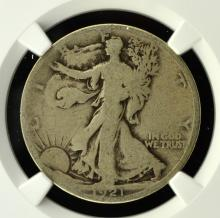 1921-S Walking Liberty Half Dollar NGC G 4