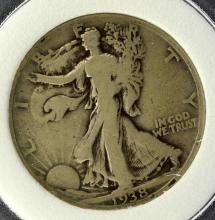 1938-D Liberty Walking Half Dollar PCC VG 8