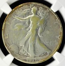 1938-D Liberty Walking Half Dollar NGC Fine Det.