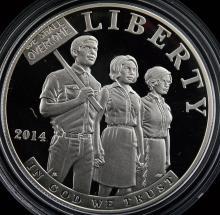 2014 Civil Rights Act 1964 PF Silver Dollar w/B&P
