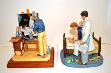 Two Norman Rockwell Figures