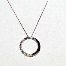 14kwg Diamond Journey circle Pendant