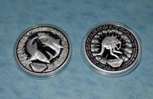 2 2000 Sydney Australia Olympics $5 Silver Proof