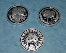 3 2000 Sydney Australia Olympics $5 Silver Proof