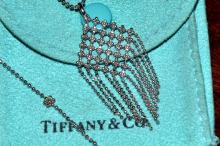 18kwg Tiffany Fringe Bead Necklace