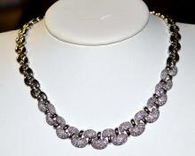 14kwg Diamond Necklace 5ctw