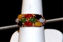 14kyg Multi Colored Jade Ring