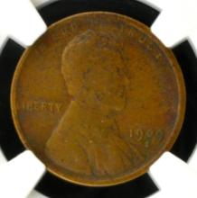 1909 S Lincoln Cent NGC F 12 BN
