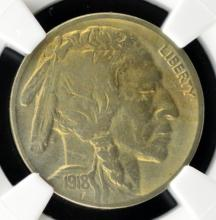 1918-S Buffalo Nickel NGC VF Details I/C