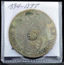 1836 MT Philippines 8 Reales Countered on Peru F
