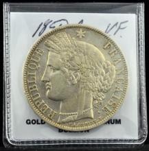 1850 A France 5 Francs VF
