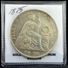 1875YJ Peru Sol XF