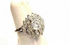 Platinum Diamond Engagement Ring 1.70ct