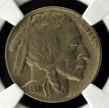 1931-S Buffalo Nickel NGC AU 50