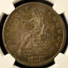 1878-S Trade Silver Dollar NGC XF 40