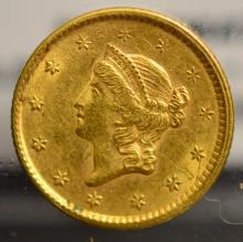1851 CW $1 Liberty Head Gold Dollar XF 45