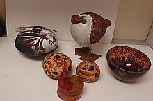 Art Glass Bowl, 5 pcs. Southwestern Art