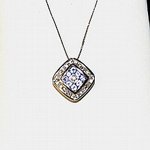 14kwg Tanzanite & Diamond Necklace