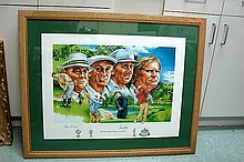 Framed Grand Slam Championship of Golf