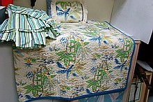 Tropical Decor Bed Spread, Dust Ruffle, Pillow