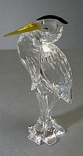 Swarovski Crystal Heron, yellow beak