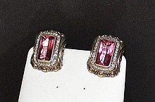 Sterling Pink Tourmaline Earrings By John Hardy