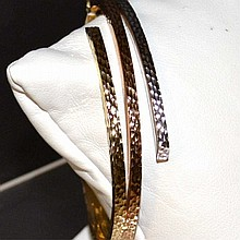 14k Tri Colored Bangle Bracelet