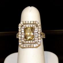 14kwg Zultanite & Diamond Ring