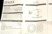 Loose 4.01ct Cushion H/VS2 GIA Certified
