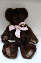 Brown Mink Teddy Bear - Hand Stitched by Bernie