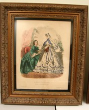2 Ornately Framed LaMode Illustree Prints